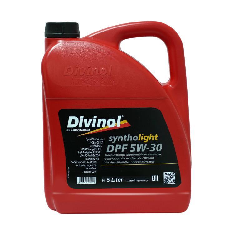 49180 Divinol Syntholight DPF 5W 30 Longlife 1