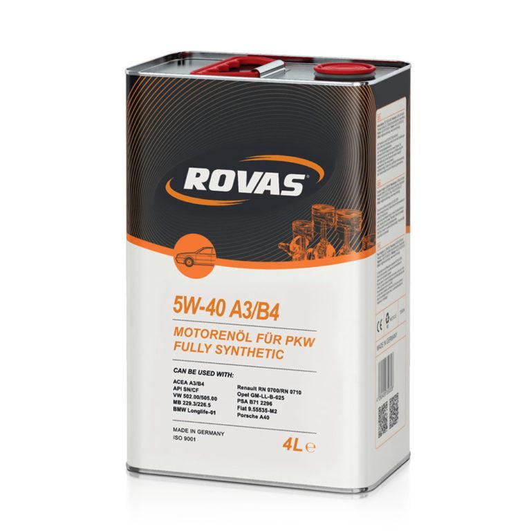 Rovas 5W-40 A3/B4