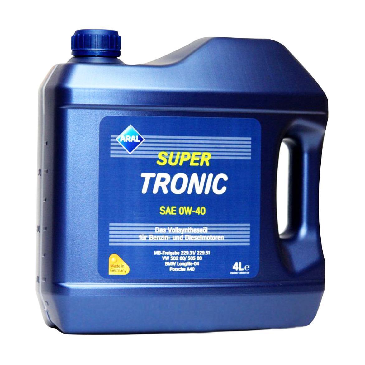 Фото: масло Aral Super tronic 0w40 4l