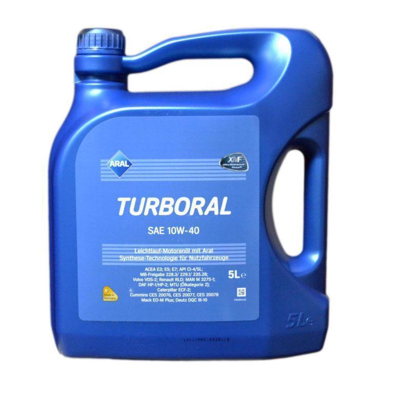 Моторное масло Aral Turboral 10W-40